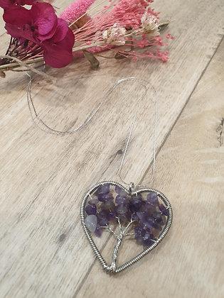 Collier coeur arbre de vie