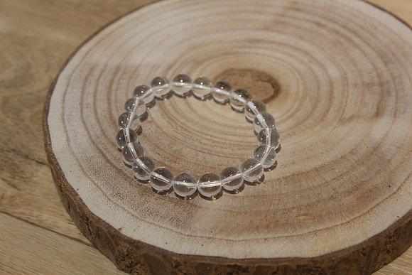 Bracelet cristal de roche 10mm