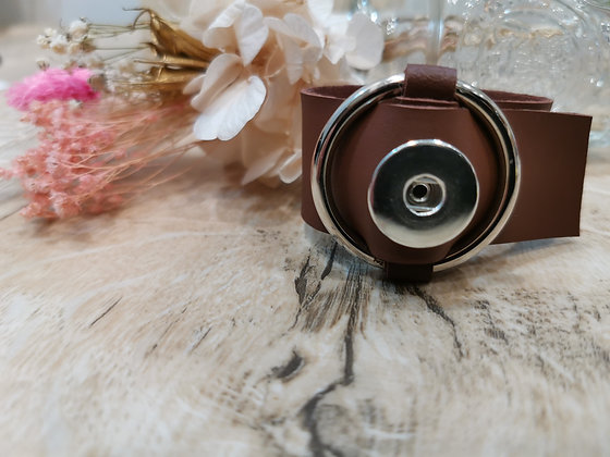 Bracelet simili cuir Bijou Pression