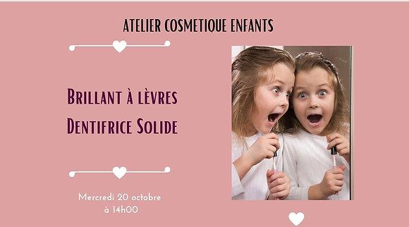 """""""Dentifrice solide à la fraise et ton brillant à lèvre"""" Mercredi 20 Octobre 2021"""