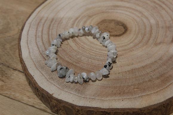 Bracelet barroque Pierre de lune peristérite