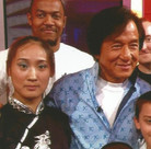Huicong Liu with Jackie Chan