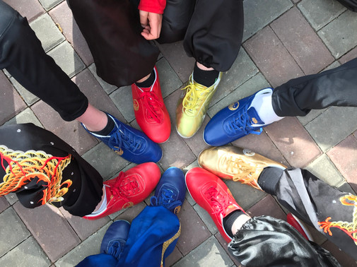 A very generous donation was received, which ghas all paid for the compulsory wushu shoes