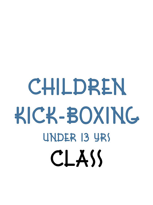 Children Kick-Boxing Class