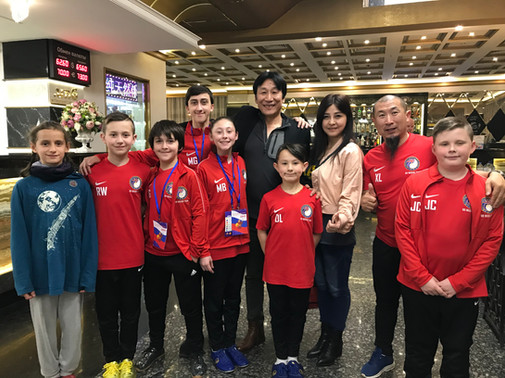 The Brirish Team with Yue Ma, the famous Chinese Actor. Wushu Master