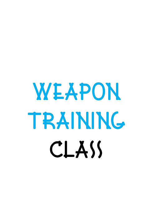 Weapon Training Class