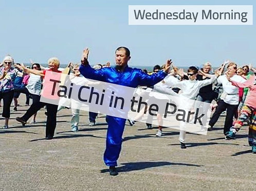 Wednesday Morning -Tai Chi Class In the Park