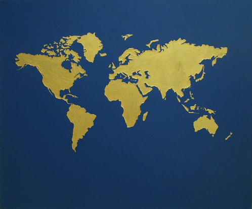 World map painting size 100cm x 120cm medium acrylic on canvas reference ab017 this is a hand painted art with acrylic on canvas ship to singapore and australia from kuala gumiabroncs Choice Image