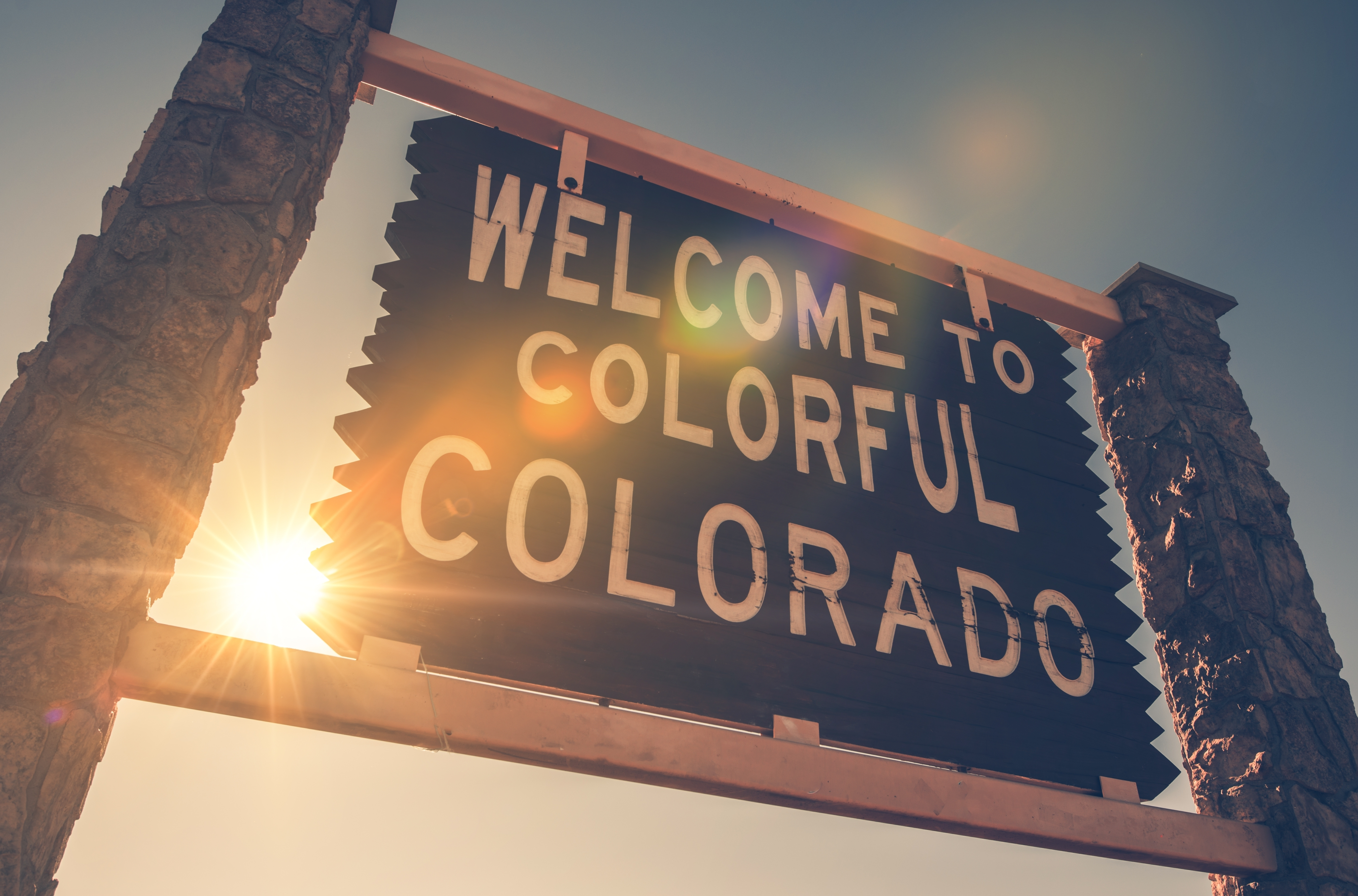 Welcome in Colorado State Entrance Woode