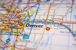 Denver USA map travel background