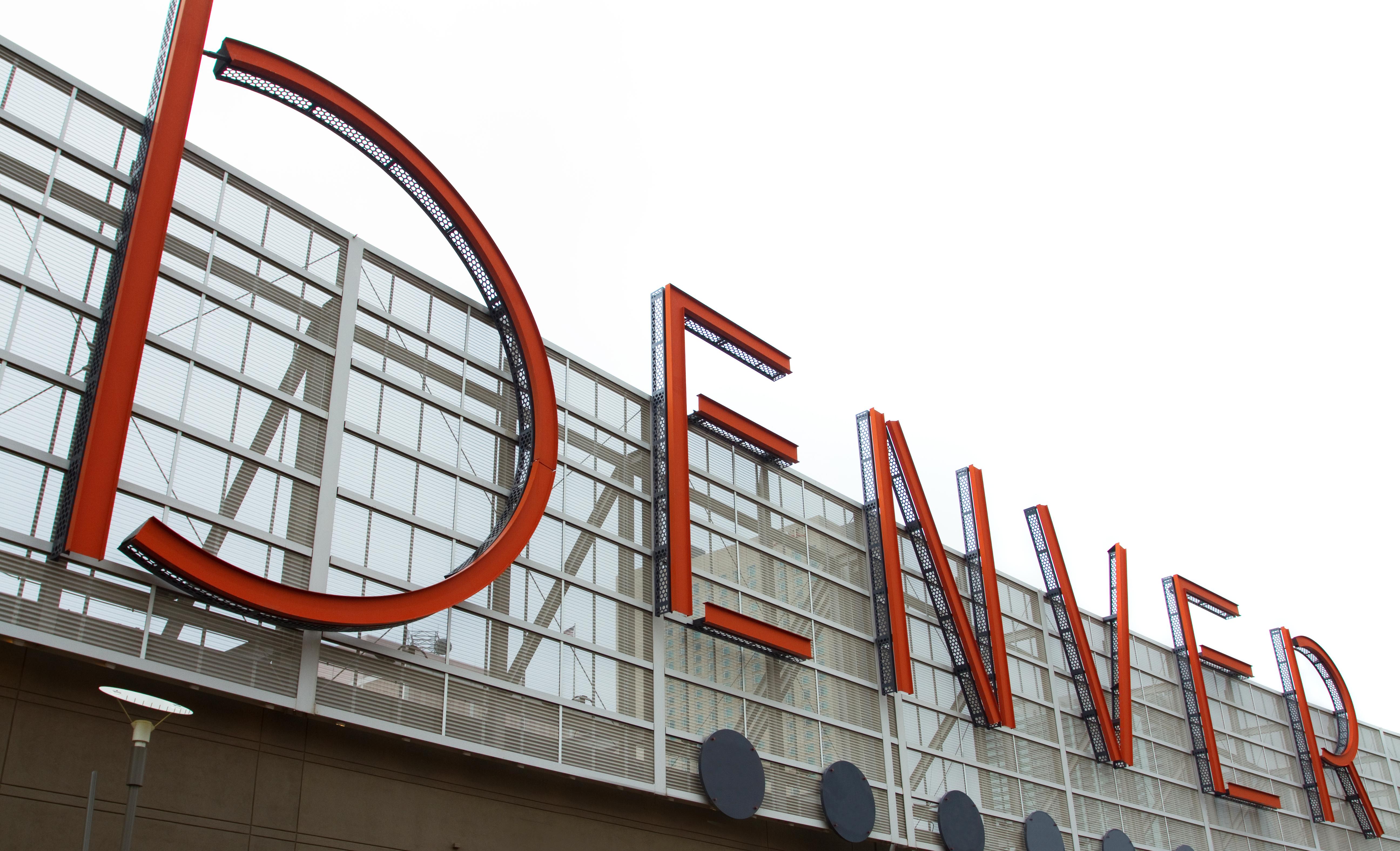 Large Denver sign on top of landmark bui