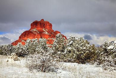 Bell Rock In White