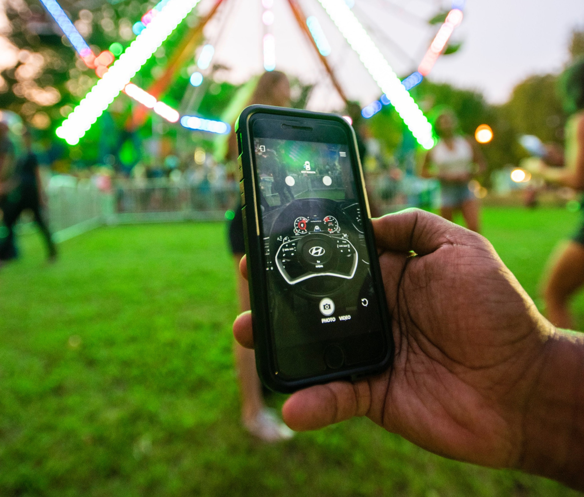 Smartphone AR featuring Hyundai vehicle