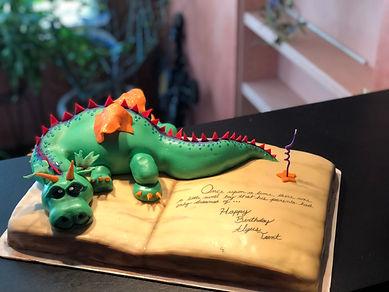Elliot Pete's Dragon Birthday Cak Aaron Coulson ACEntertainment