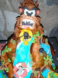 Looney Tunes Waterslide birthday cake Aaron Coulson ACEntertainment