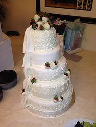 His/Hers 2 sided weddin cake Aaron Coulson ACEntertai
