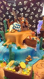 Pirate Ship little boy dreams treasure chest Cake  Aaron Coulson ACEntertainmen
