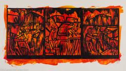 Scuffle at Midnight (Dream Series I), 1998