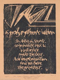 a polyrythmic idiom, 1991