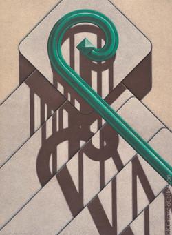 W 11th Street II, Green Rail, 1983