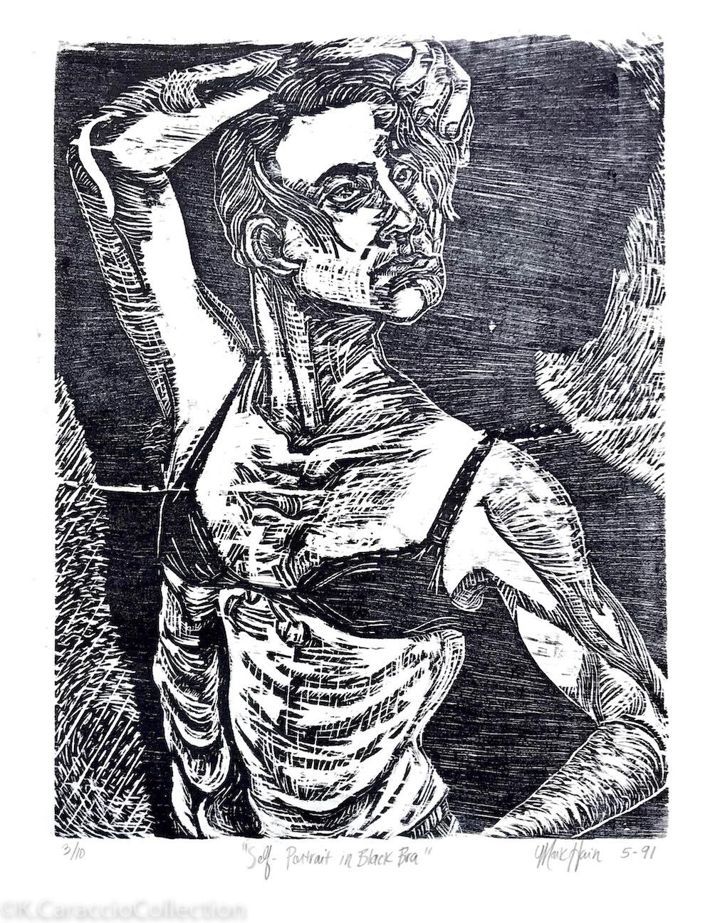 """""""Self-Portrait in Black Bra"""", 1991"""