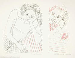 Girl with Checkered Tablecloth, 1978