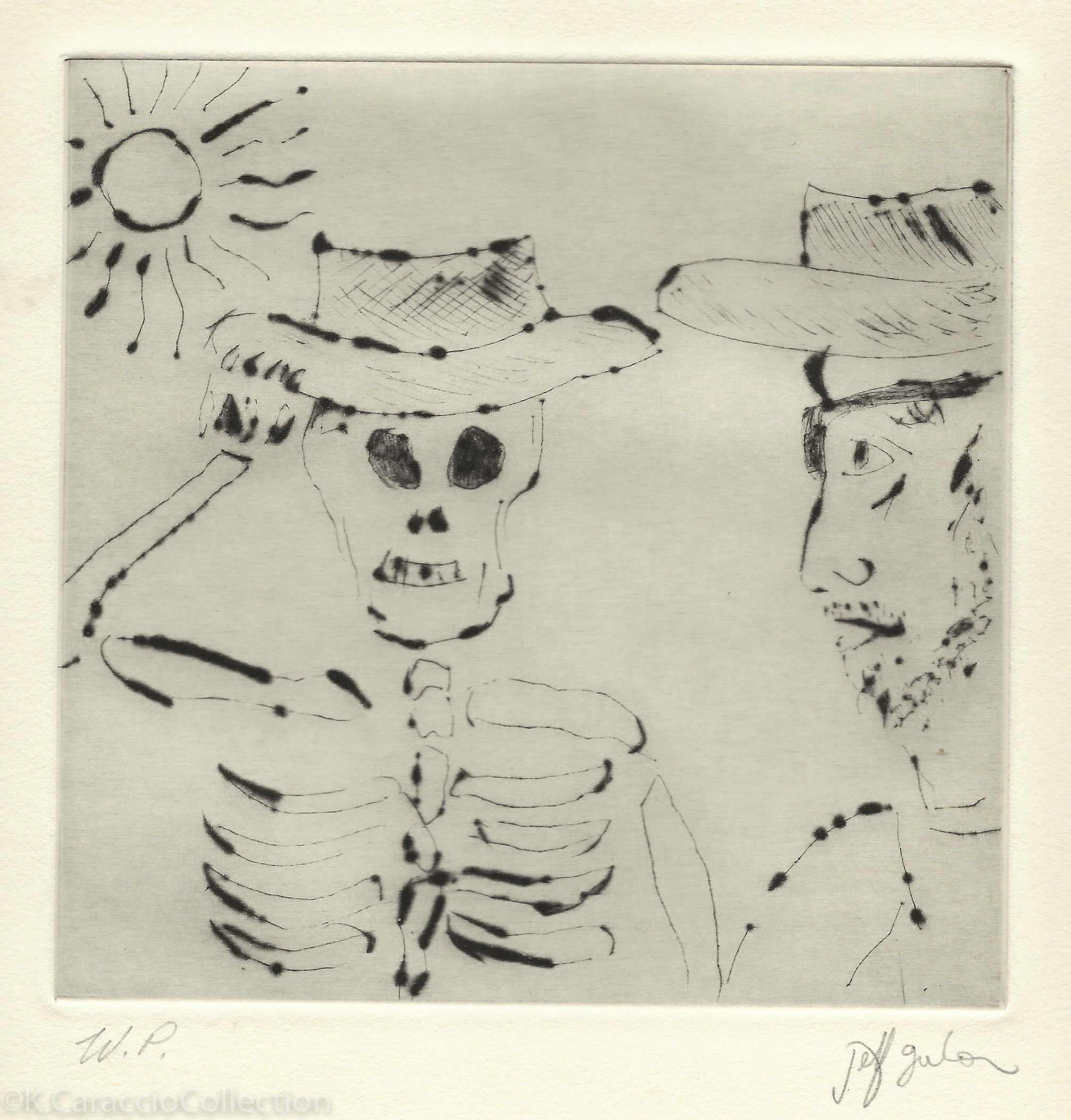 Self Portrait with Skeleton King, 1999