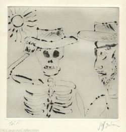 Self Portrait with Skeleton King, 1999
