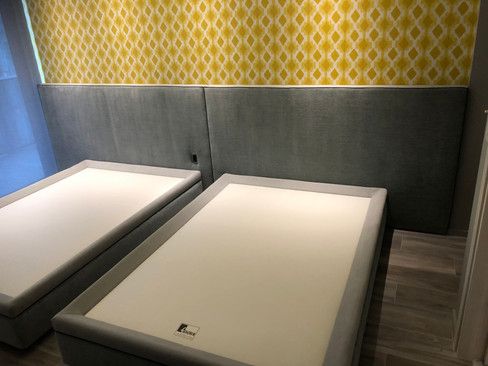 GUEST ROOM BEDS AND HEADBOARD