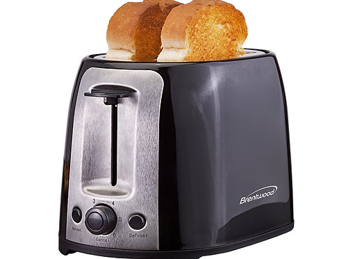 Brentwood TS-292B Cool Touch 2-Slice Extra Wide Slot Toaster, Black