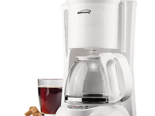 Brentwood TS-218W 12 Cup Digital Coffee Maker, White