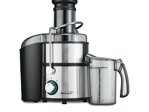 Brentwood JC-500 2-Speed 800w Juice Extractor with Graduated Jar, Stainless