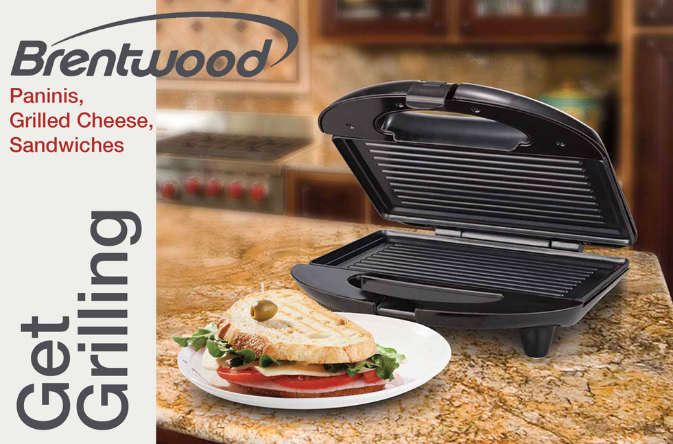 Brentwood Panini Grill