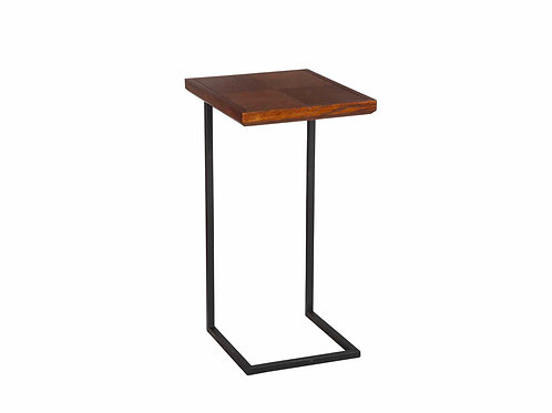 Zazzle Side Table, Burnish Brown