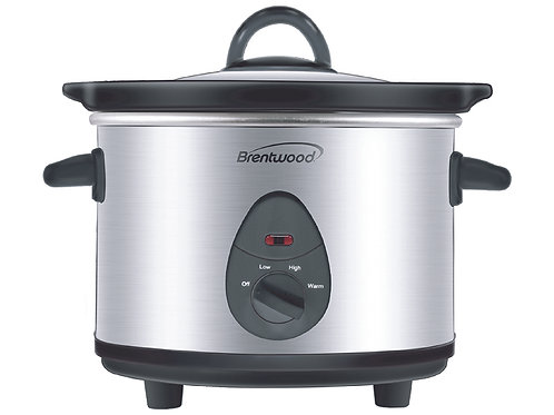 Brentwood SC-115S 1.5 Quart Slow Cooker, Stainless Steel