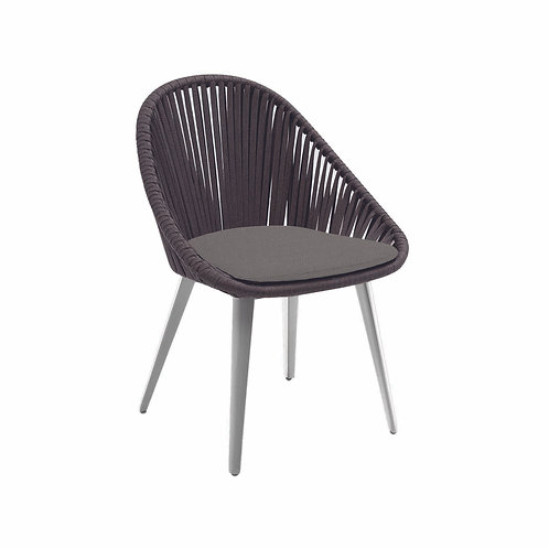 Dino Dining Side Chair Vertical Rope