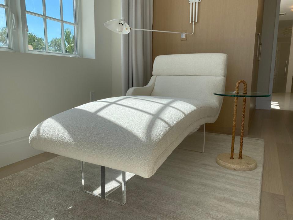 Custom Acrylic Chaise