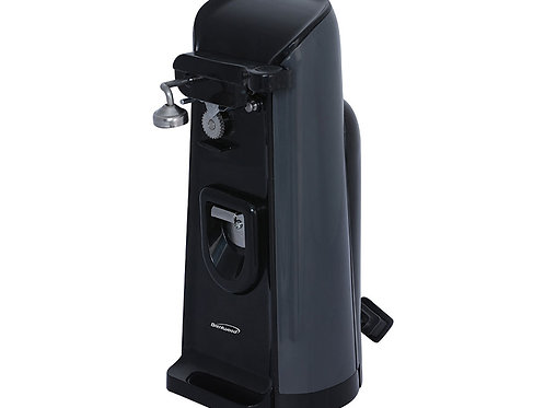 Brentwood J-30B Tall Electric Can Opener with Knife Sharpener & Bottle Opener