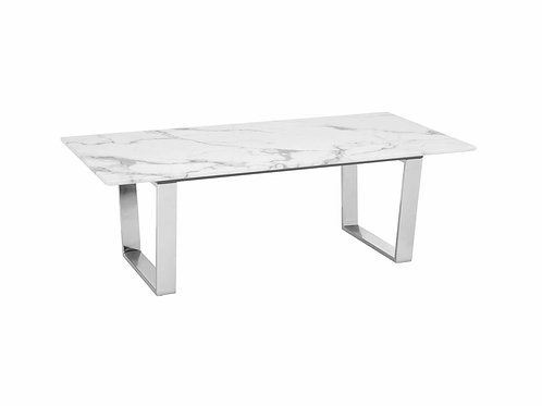 Atlas Coffee Table White & Silver