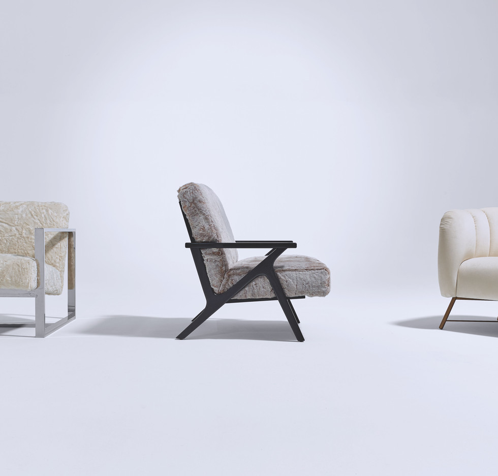 A Squared Lounge and Accent Chairs