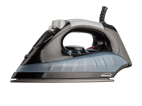 Brentwood MPI-62 Non-Stick Steam Iron, Black