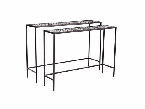 Web Set of Console Tables Black