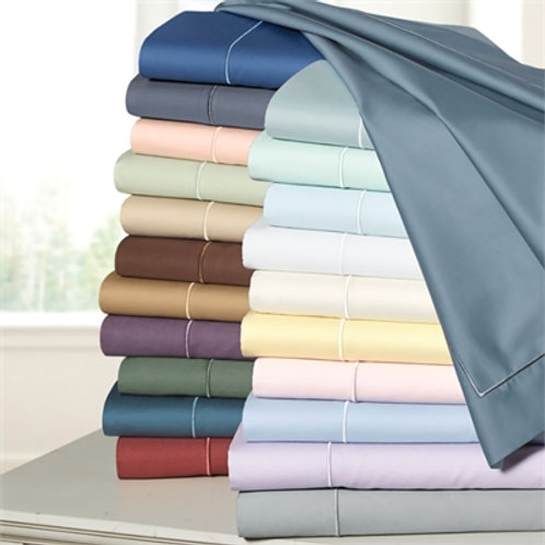 400TC Solid Cotton Sateen Sheet Set