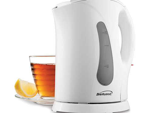 Brentwood KT-1610 BPA Free 1L Cordless Electric Kettle, White