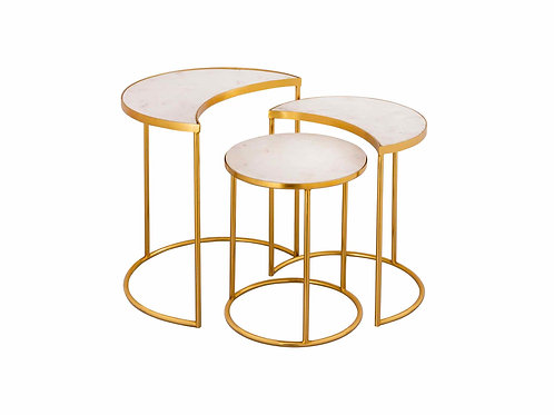 Crescent Accent Tables (Set of 3)