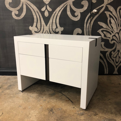 CUSTOM LACQUERED BEDSIDE TABLE