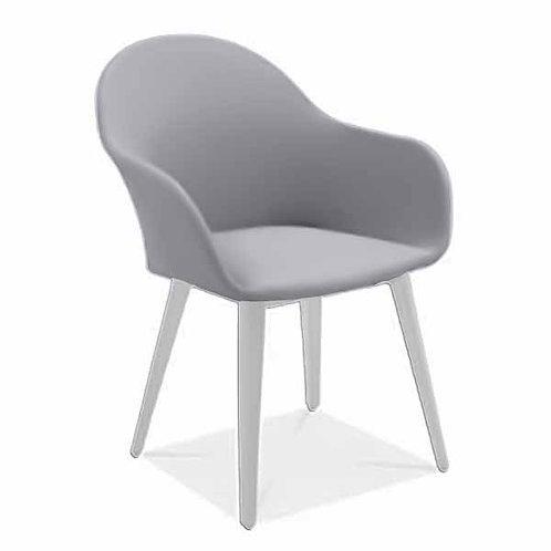 Dino Dining Arm Chair Sling Alum Leg