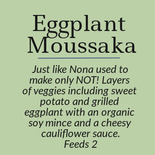 Eggplant Moussaka with Cauliflower Cream