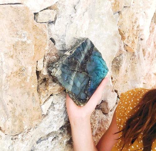 Small Labradorite Crystal Slab