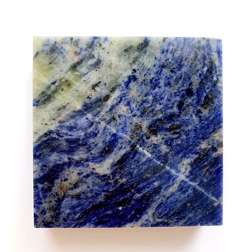 Sodalite Square Crystal Slab